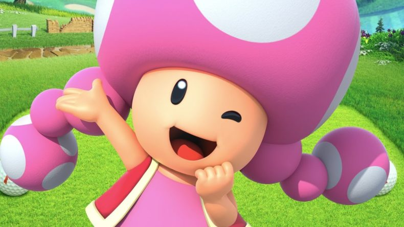 Toadette and New Donk City in Mario Golf: Super Rush