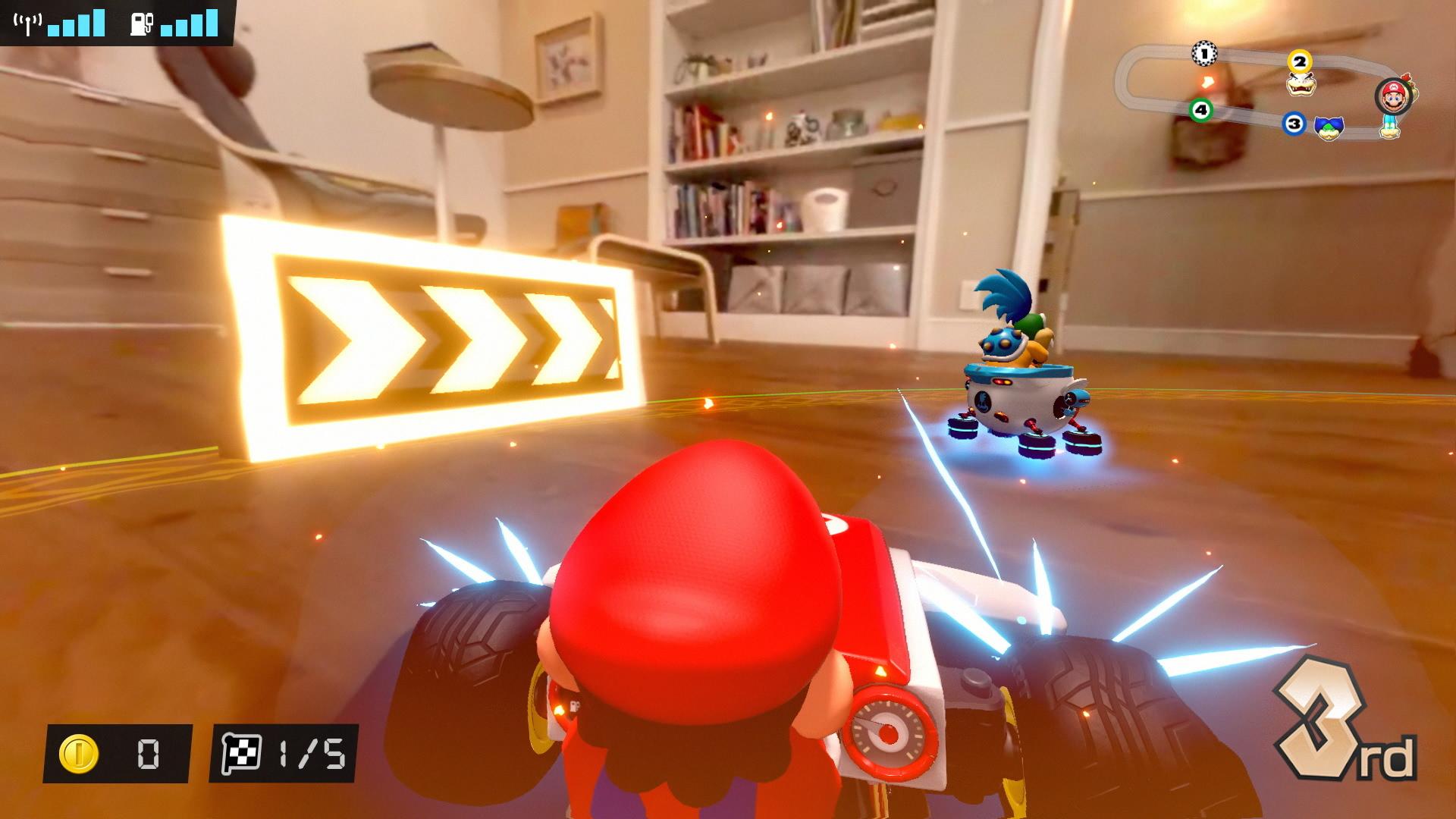 A screenshot from Mario Kart Live: Home Circuit