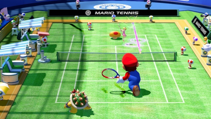 Mario Tennis mushroom Mario