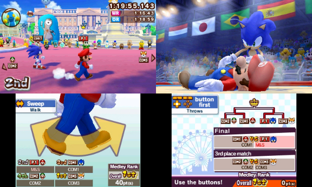 Mario and Sonic Olympic 3DS - Judo/Running