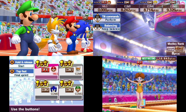 Mario and Sonic Olympics 3DS - Lineup/Balance