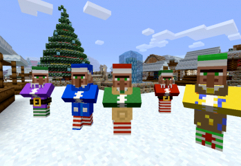 Minecraft christmas featured