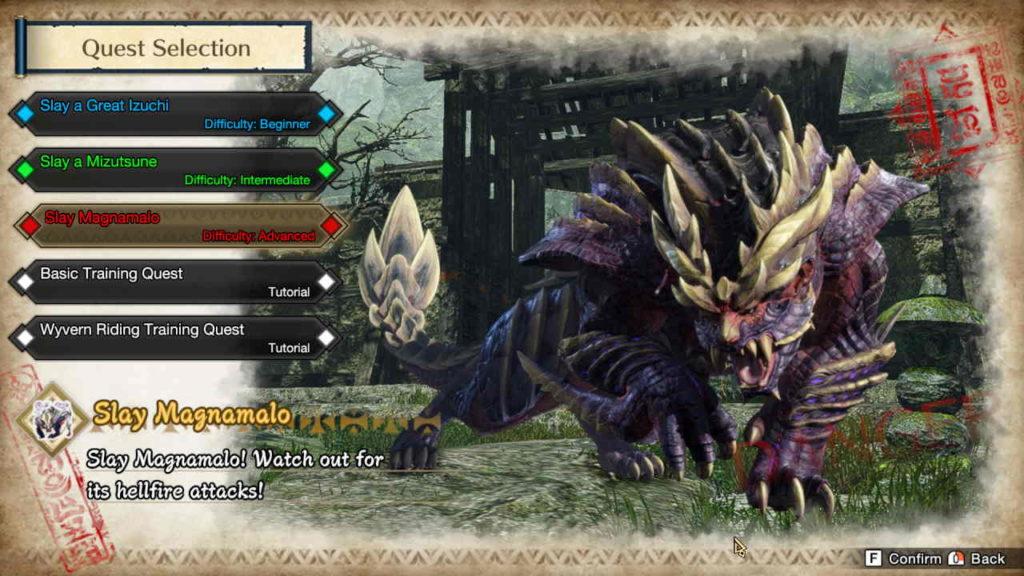 Monster Hunter Rise PC Demo Magnamalo