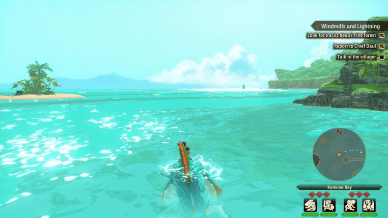 Monster Hunter Stories 2 swim