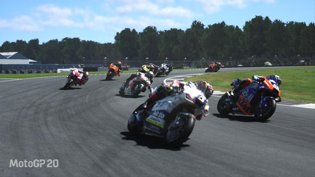 A screenshot from MotoGP 20
