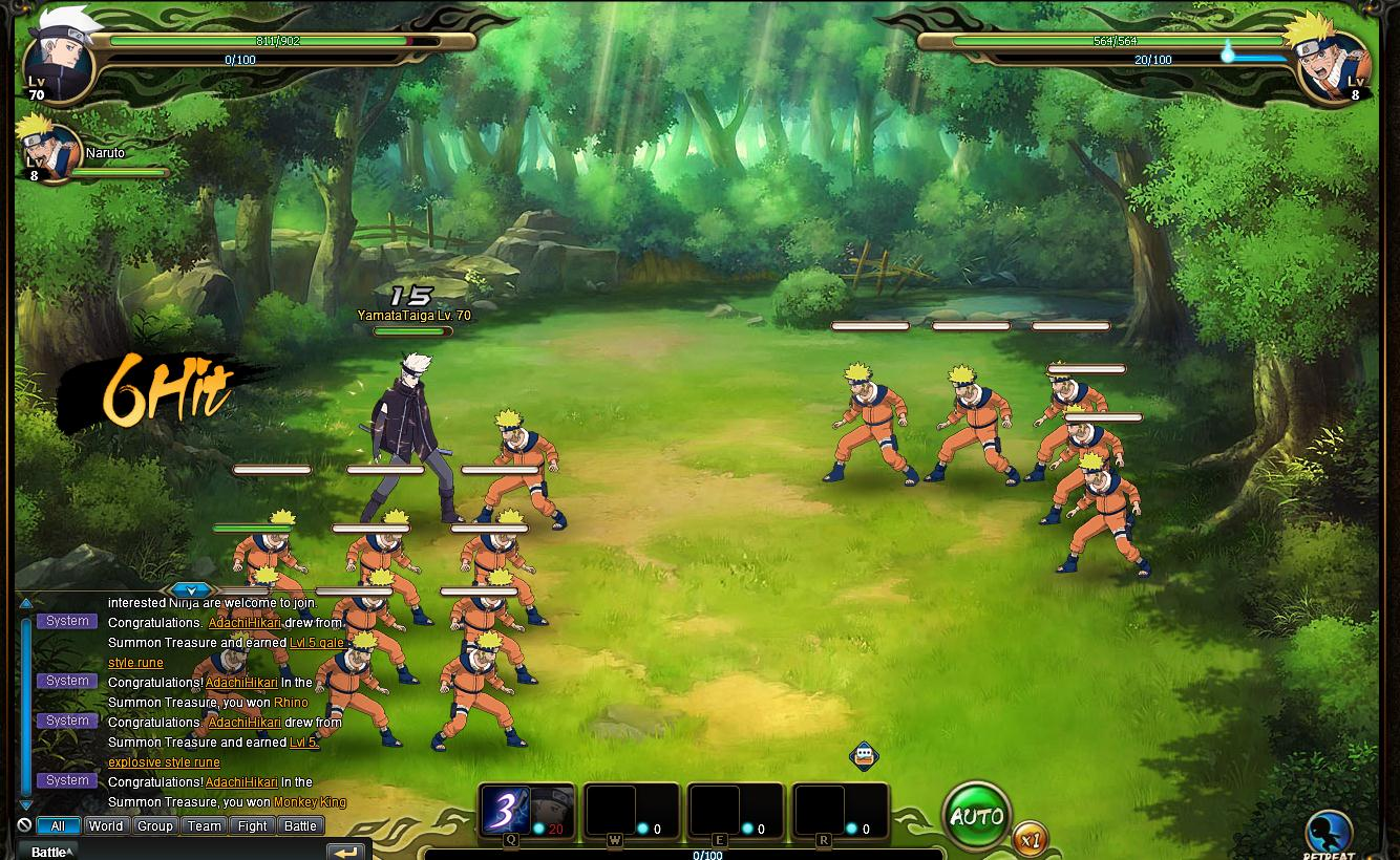 Naruto Online (MMORPG) available now for PC and Mac