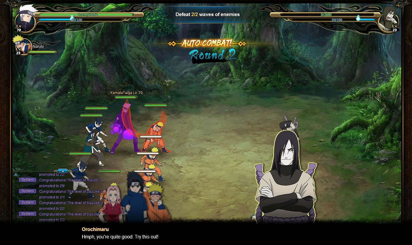 free play naruto games online games