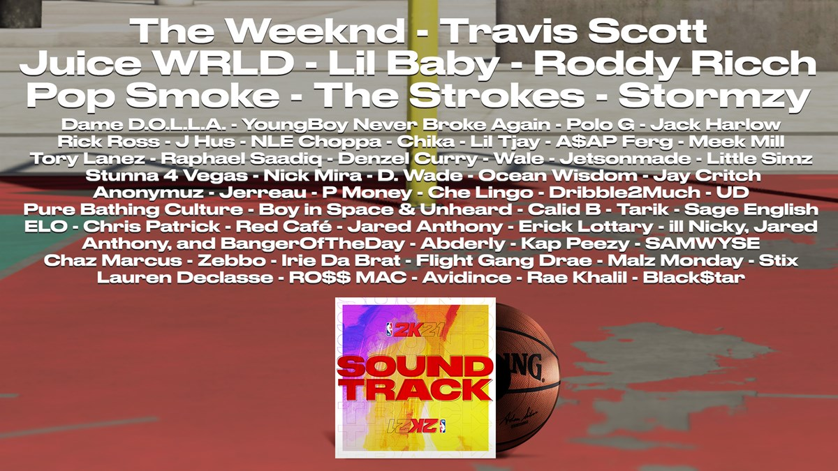 NBA 2K21 Song Artists