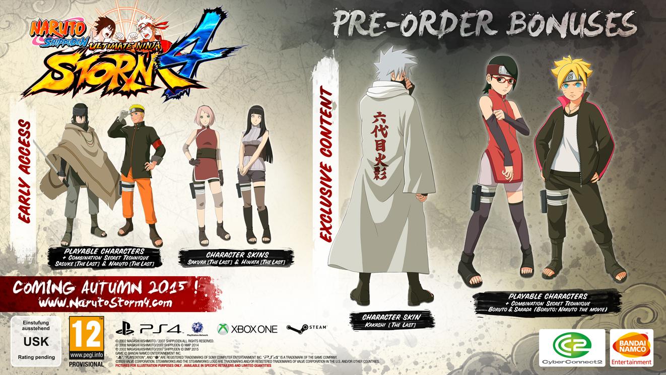 Naruto Shippuden Ultimate Ninja Storm 4 Special Editions