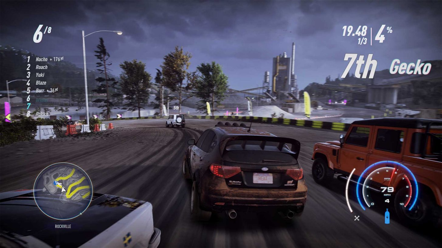 A screenshot from Need for Speed Heat