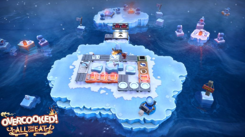 A screenshot of Overcooked! All You Can Eat