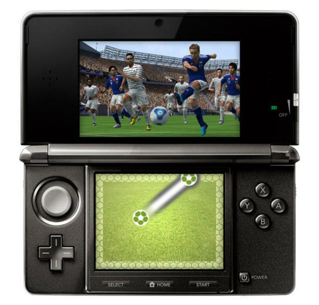 PES 2012 3DS - Kicking