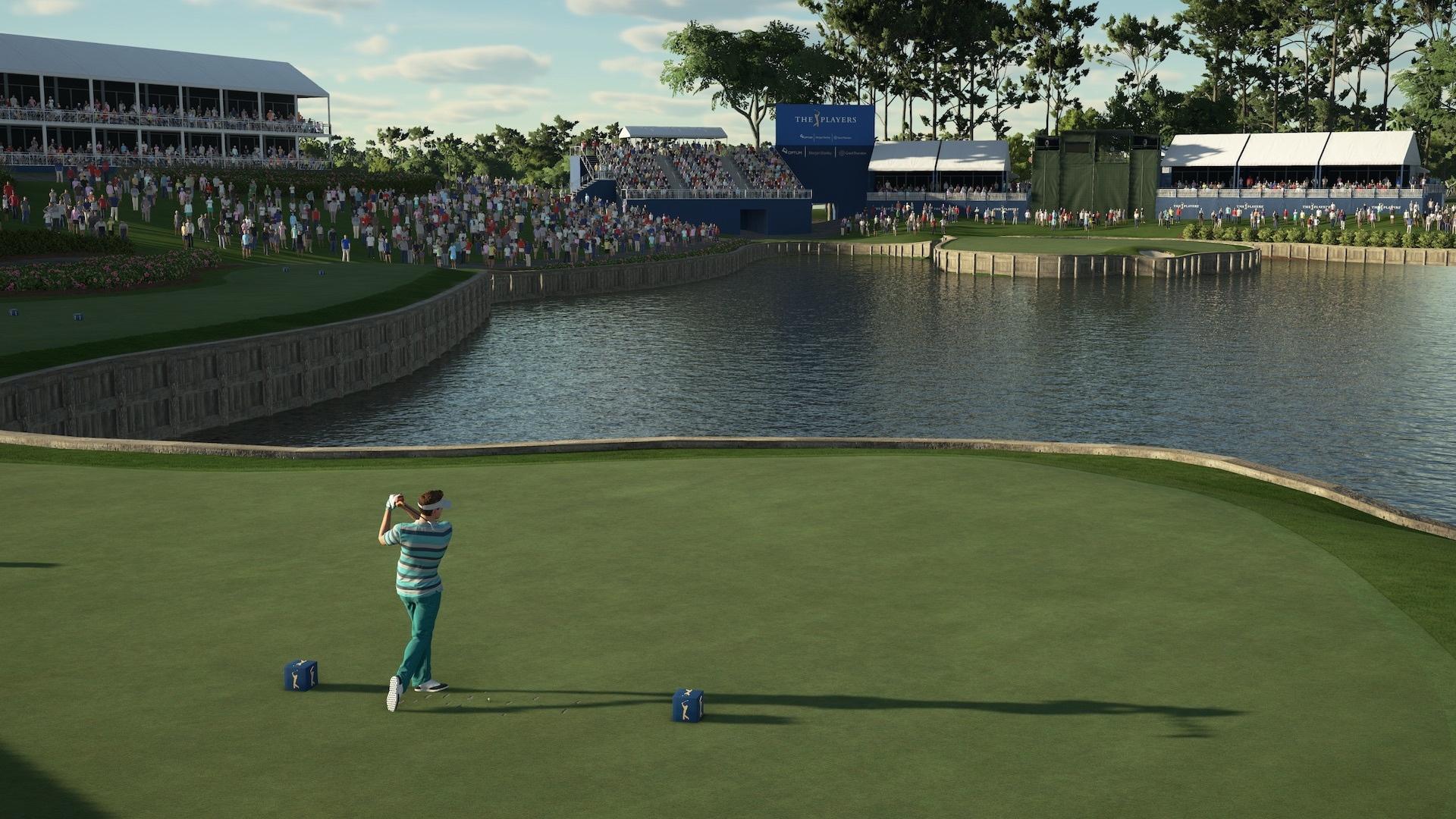 A screenshot from PGA TOUR 2K21
