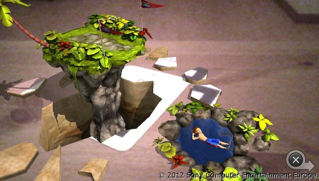 PSVita AR Games - Cliff Diving