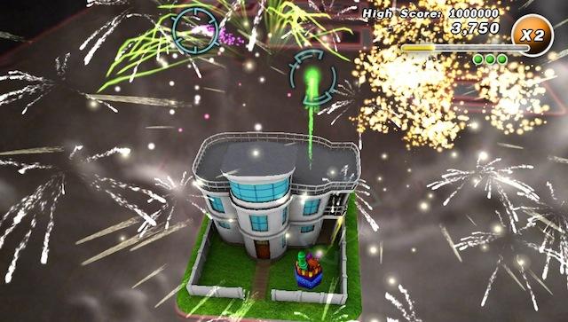 PSVita AR Games - Fireworks