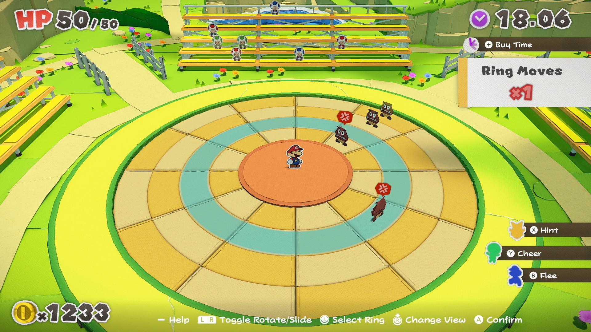 Paper Mario: The Origami King - Combat