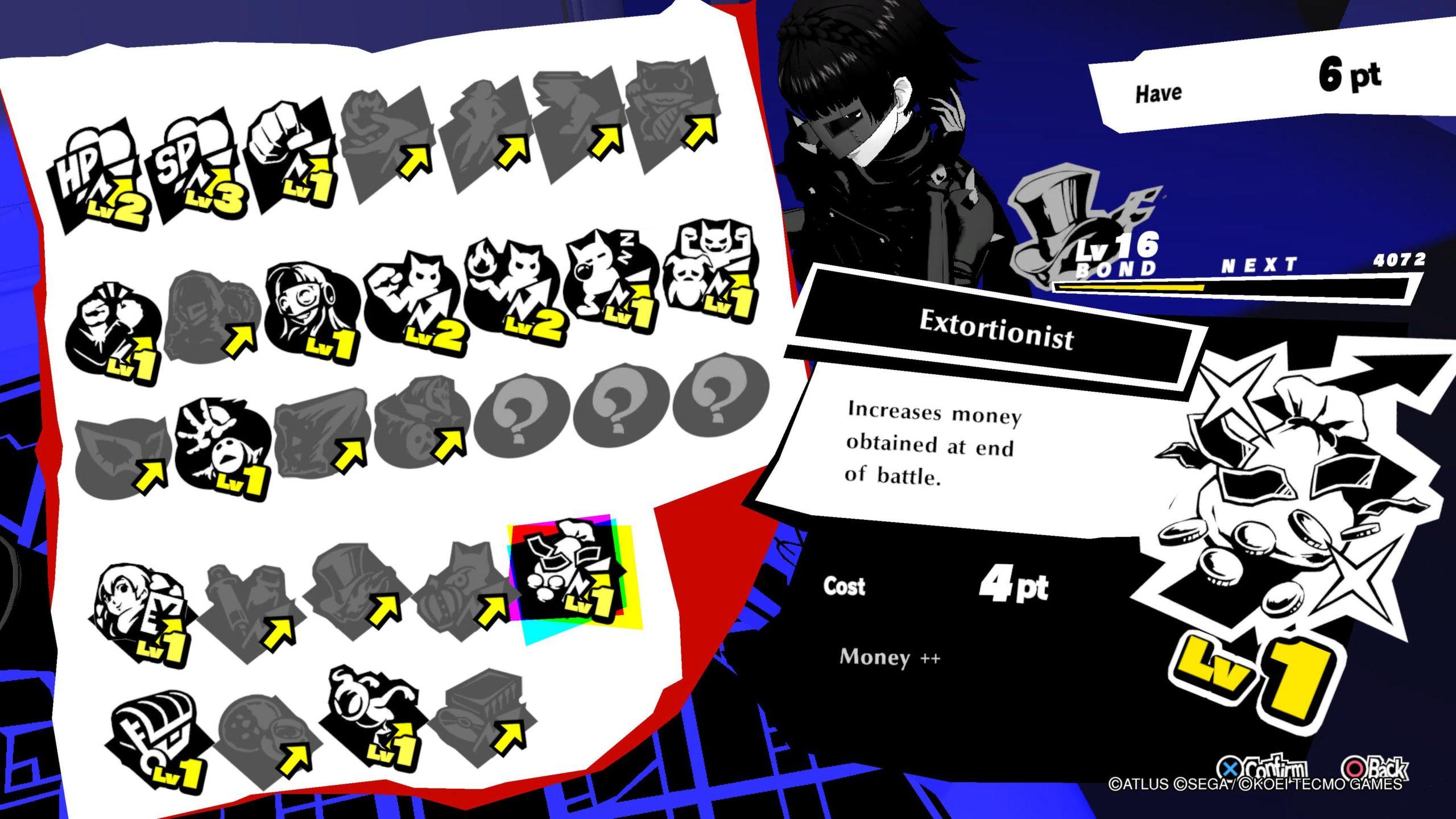 Persona 5 Strikers Extortionist Bond