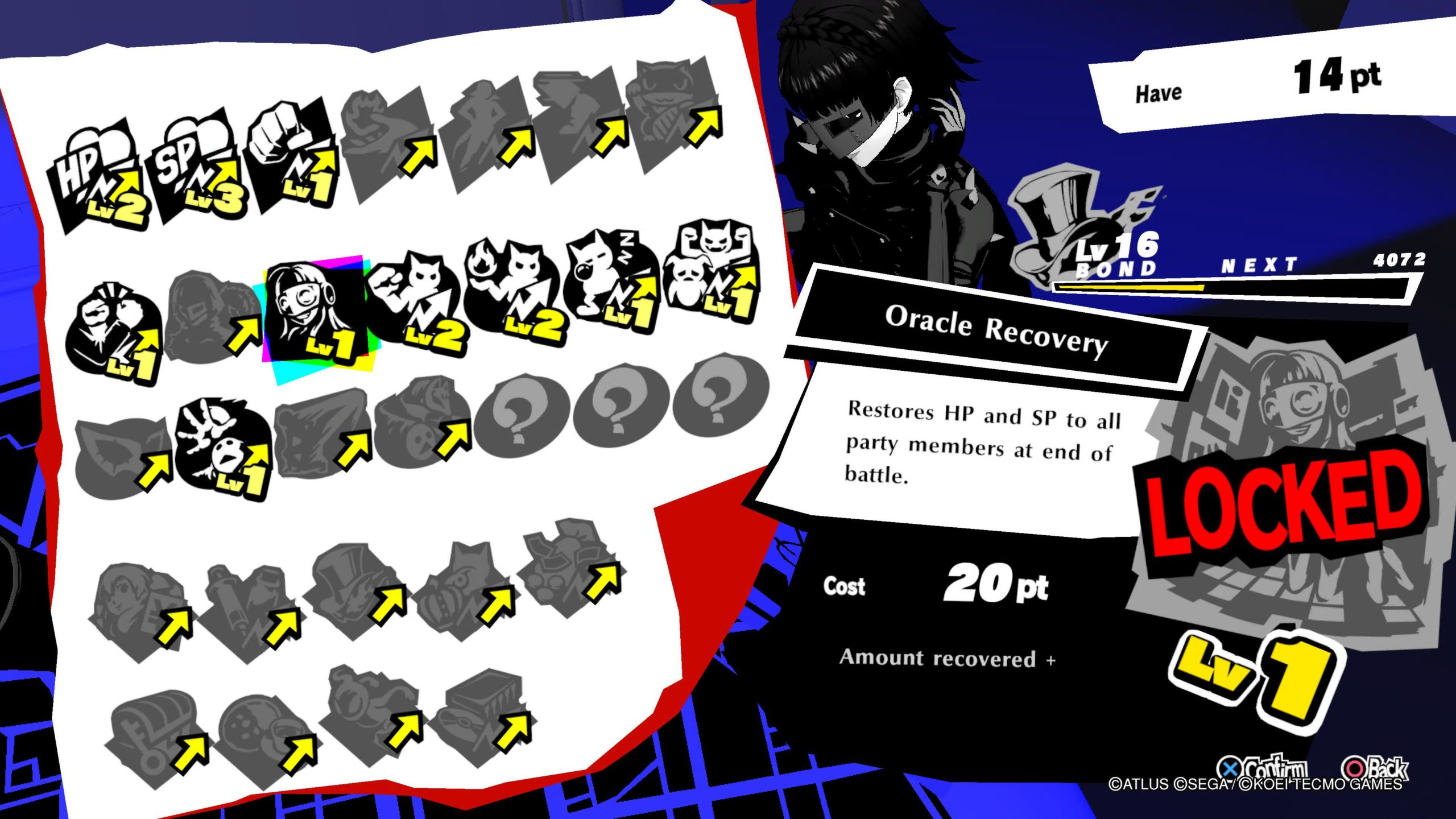 Persona 5 Strikers Oracle Recovery Bond
