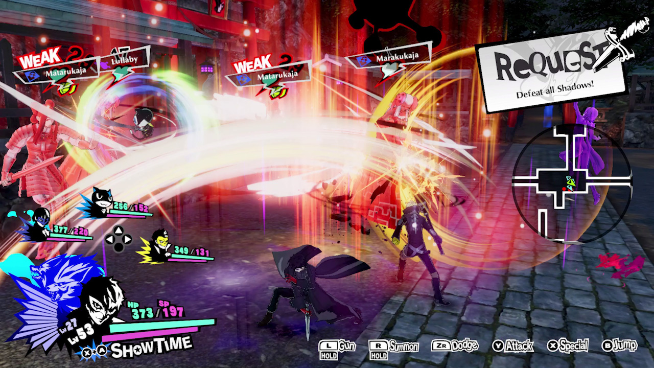 Persona 5 Strikers Switch combat