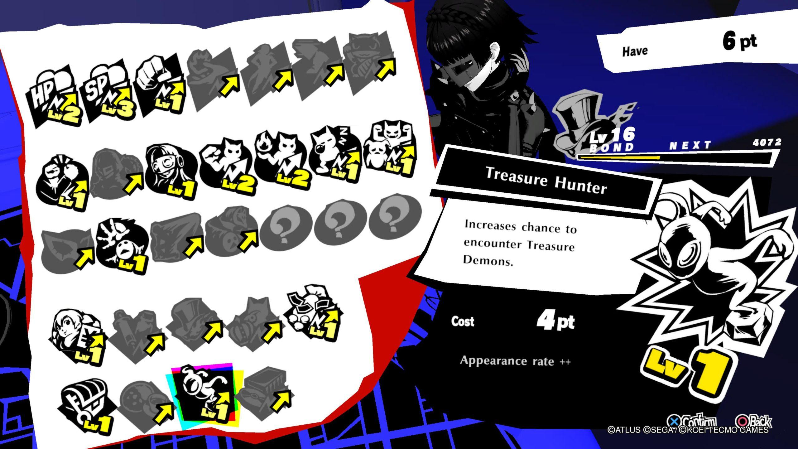 Persona 5 Strikers Treasure Hunter Bond