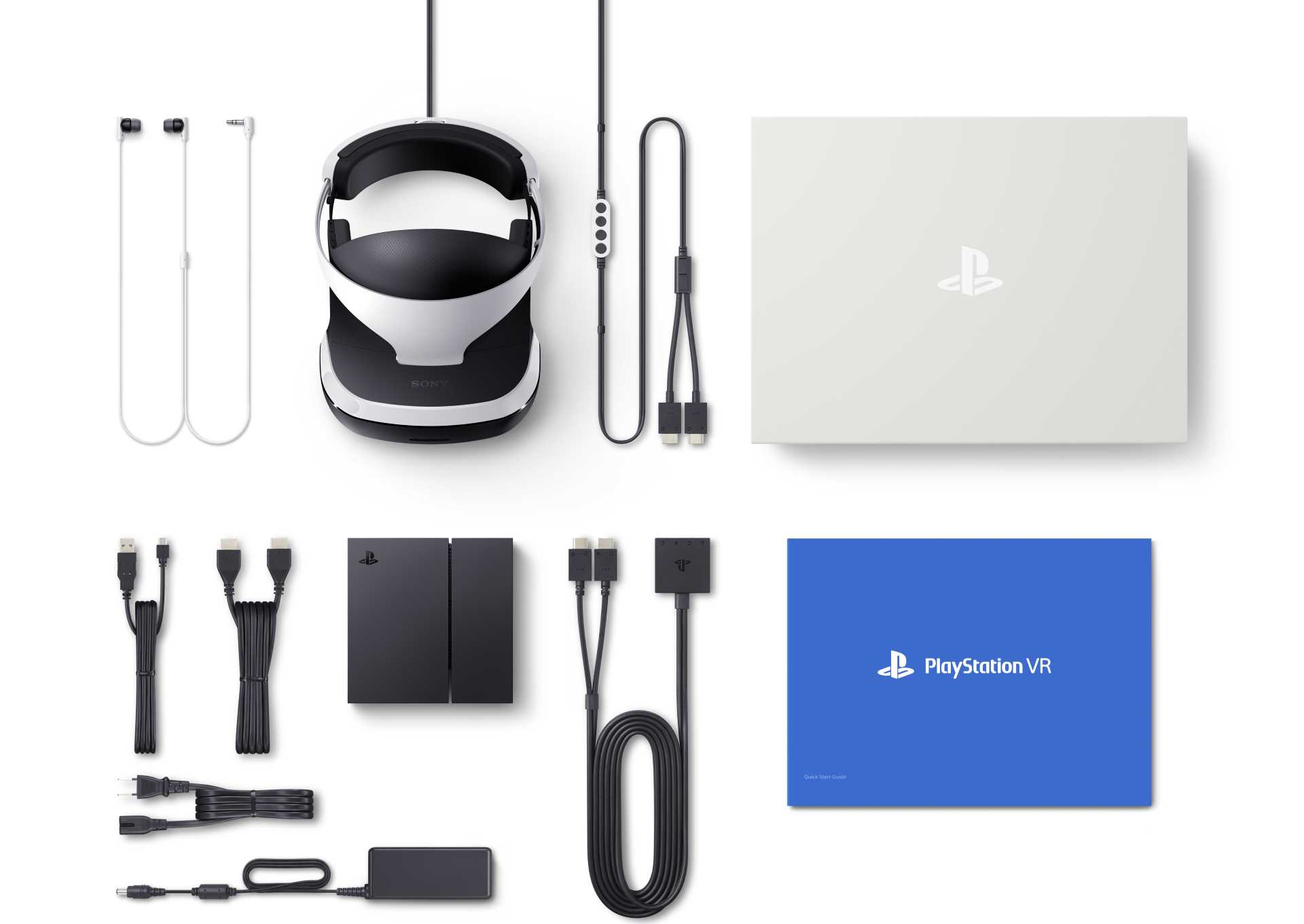PlayStation VR full pack opened