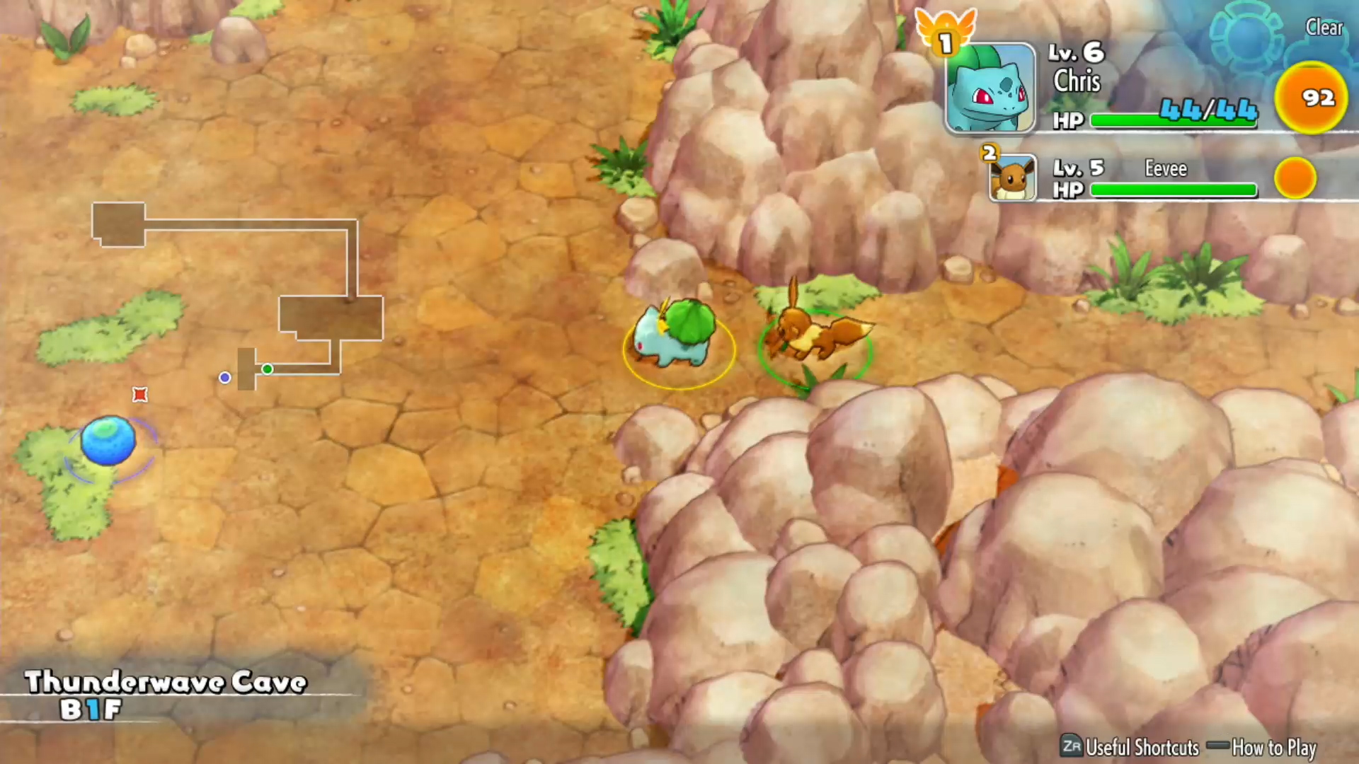 A screenshot from Pokemon Mystery Dungeon Rescue Team DX