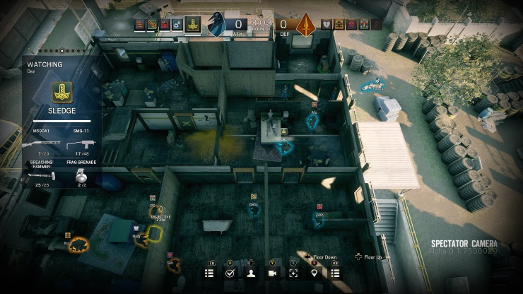 Rainbow Six Siege spectator tactical cam