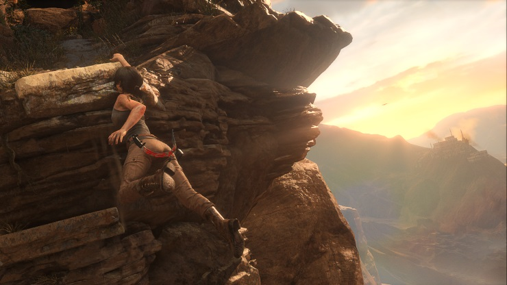 Rise of the Tomb Raider - climbing