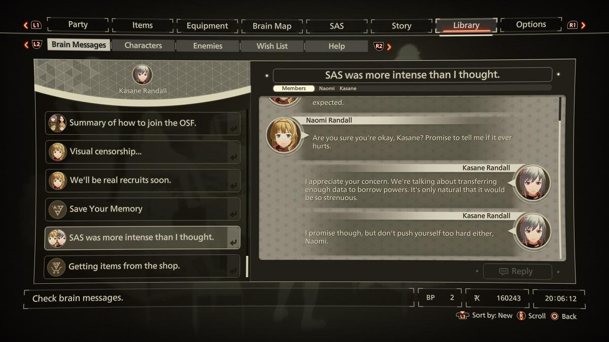 Scarlet Nexus Brain Message