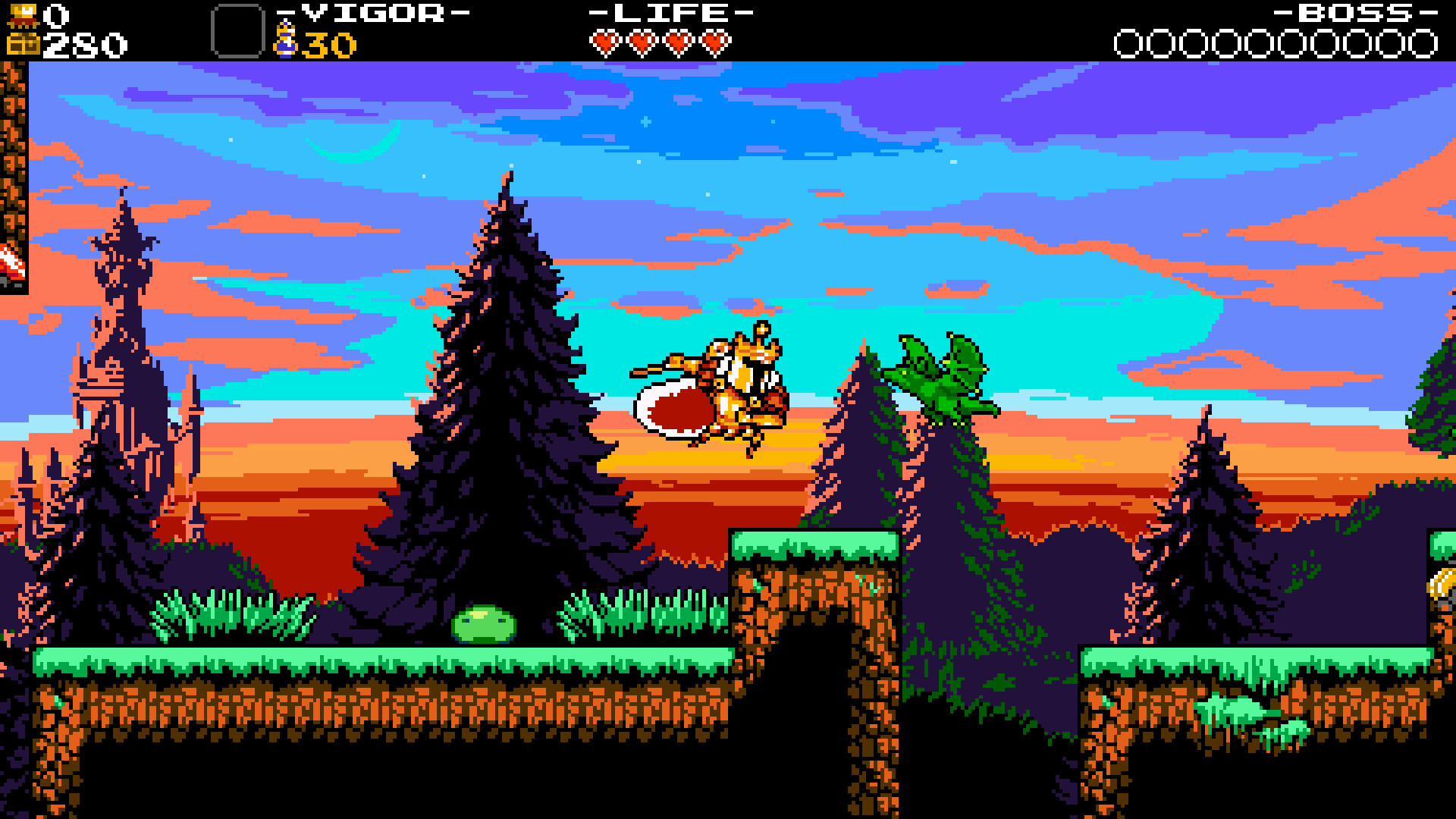A screenshot from Shovel Knight: King of Cards