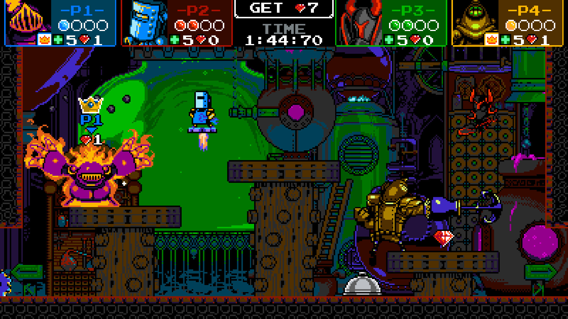 A screenshot from Shovel Knight: Showdown on PC