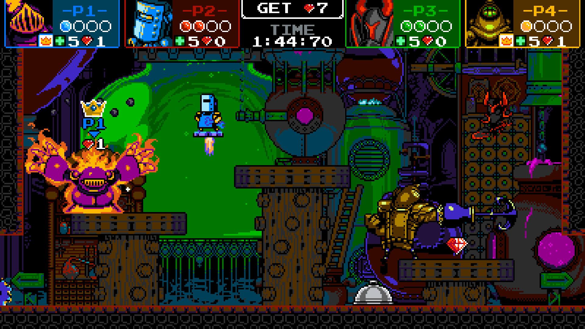 A screenshot from Shovel Knight: Showdown on PC