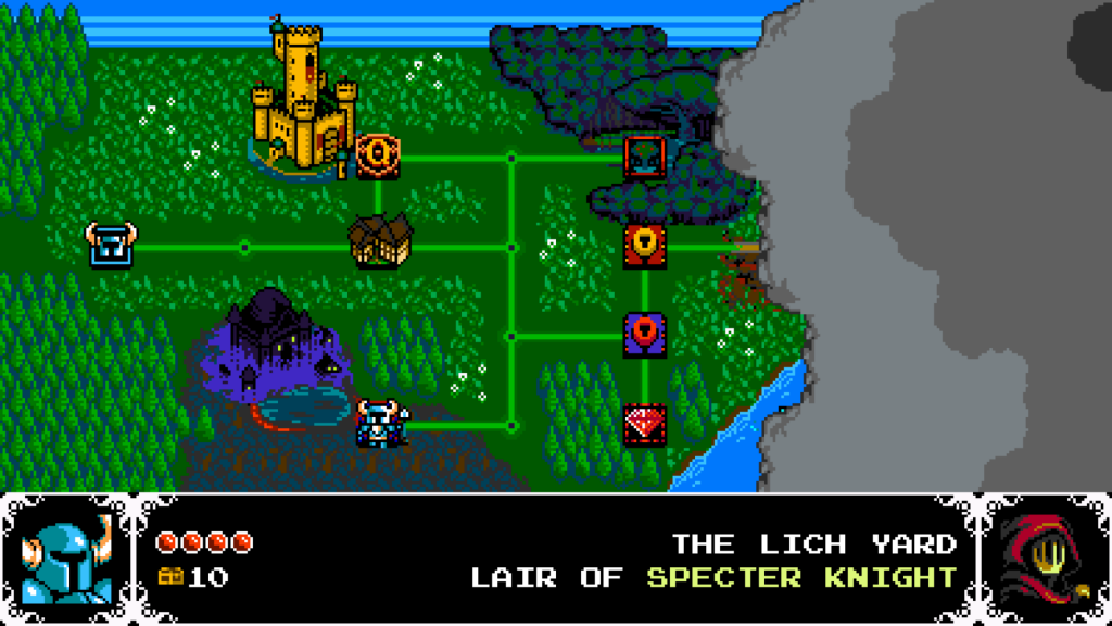 Shovel Knight map screen