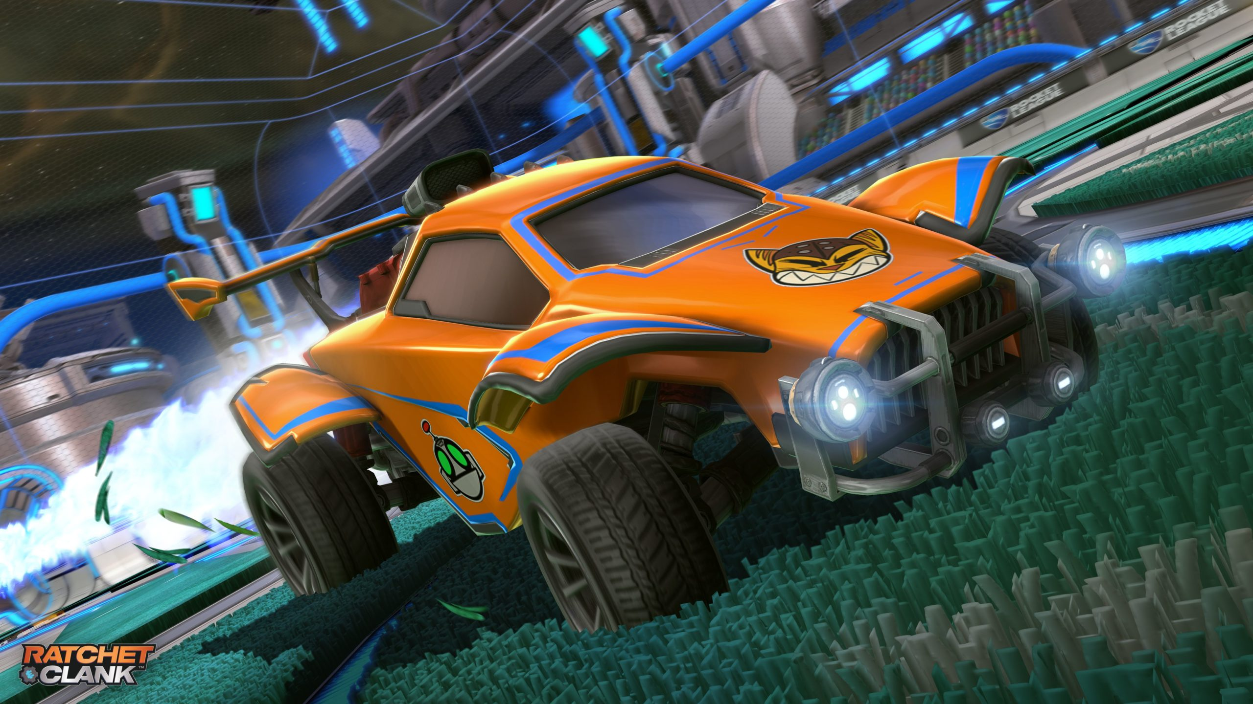 Free Ratchet and Clank Rocket League content available for PS5 owners today.