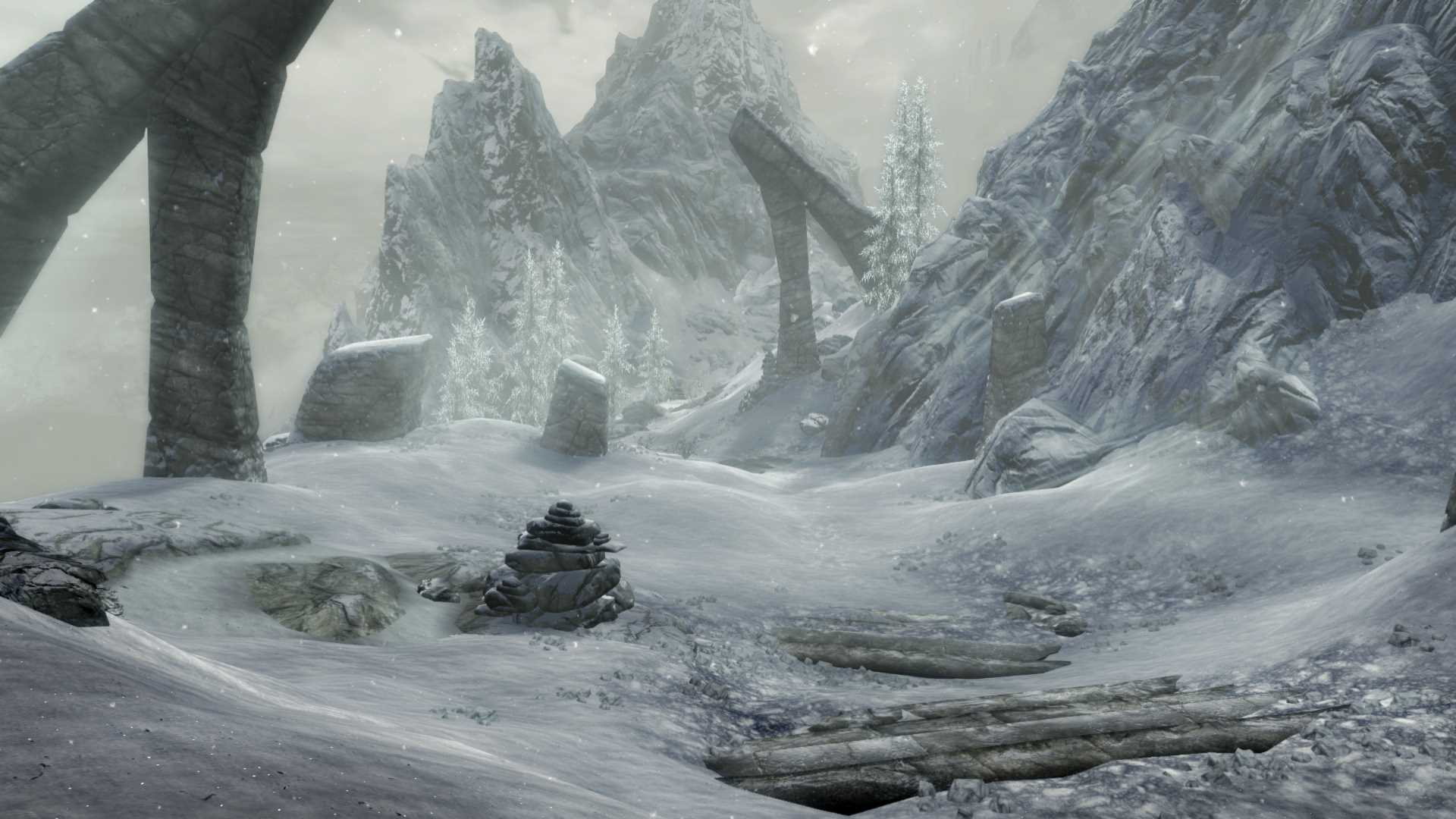 Skyrim Special Edition the snow looks pretty doesnt it