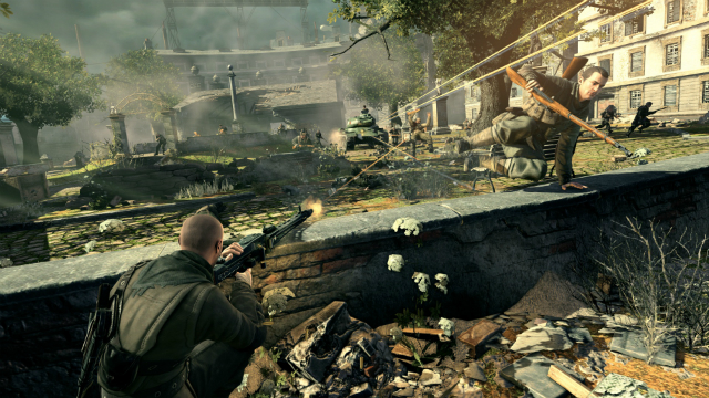 Sniper Elite V2 - Jumping Over Wall