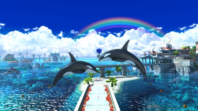 Sonic-Generations-Beautiful-Scenery-and-Dolphins