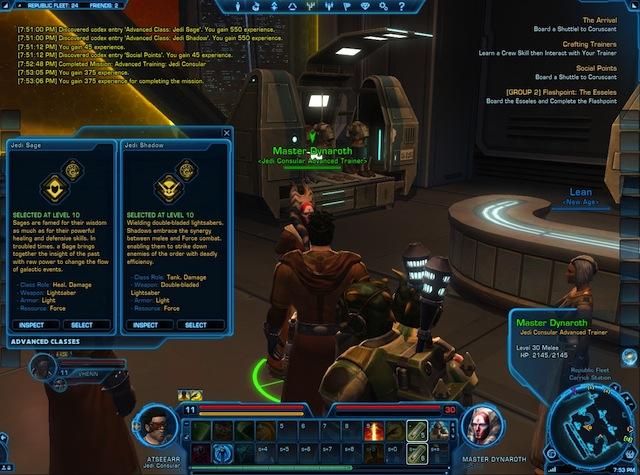 Star Wars: The Old Republic - Atseearr Choosing Specialisation