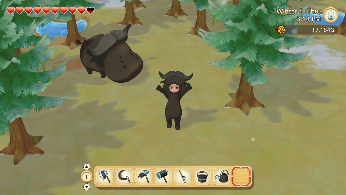 Story of Seasons: Pioneers of Olive Town Bull Dress Up