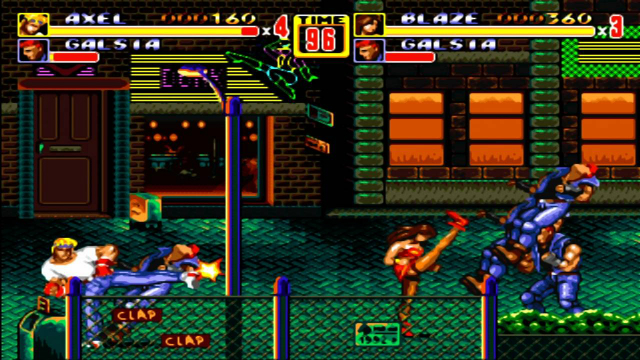 Streets of Rage 2 - Hall of Fame - Screenshot