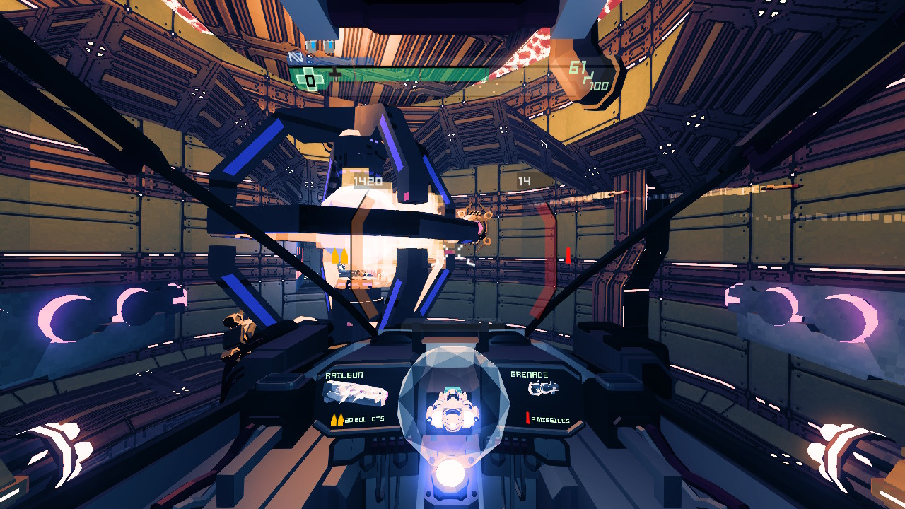 A screenshot from the Nintendo Switch version of Sublevel Zero Redux