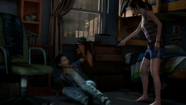 TLOU - Ellie defends herself from surprise