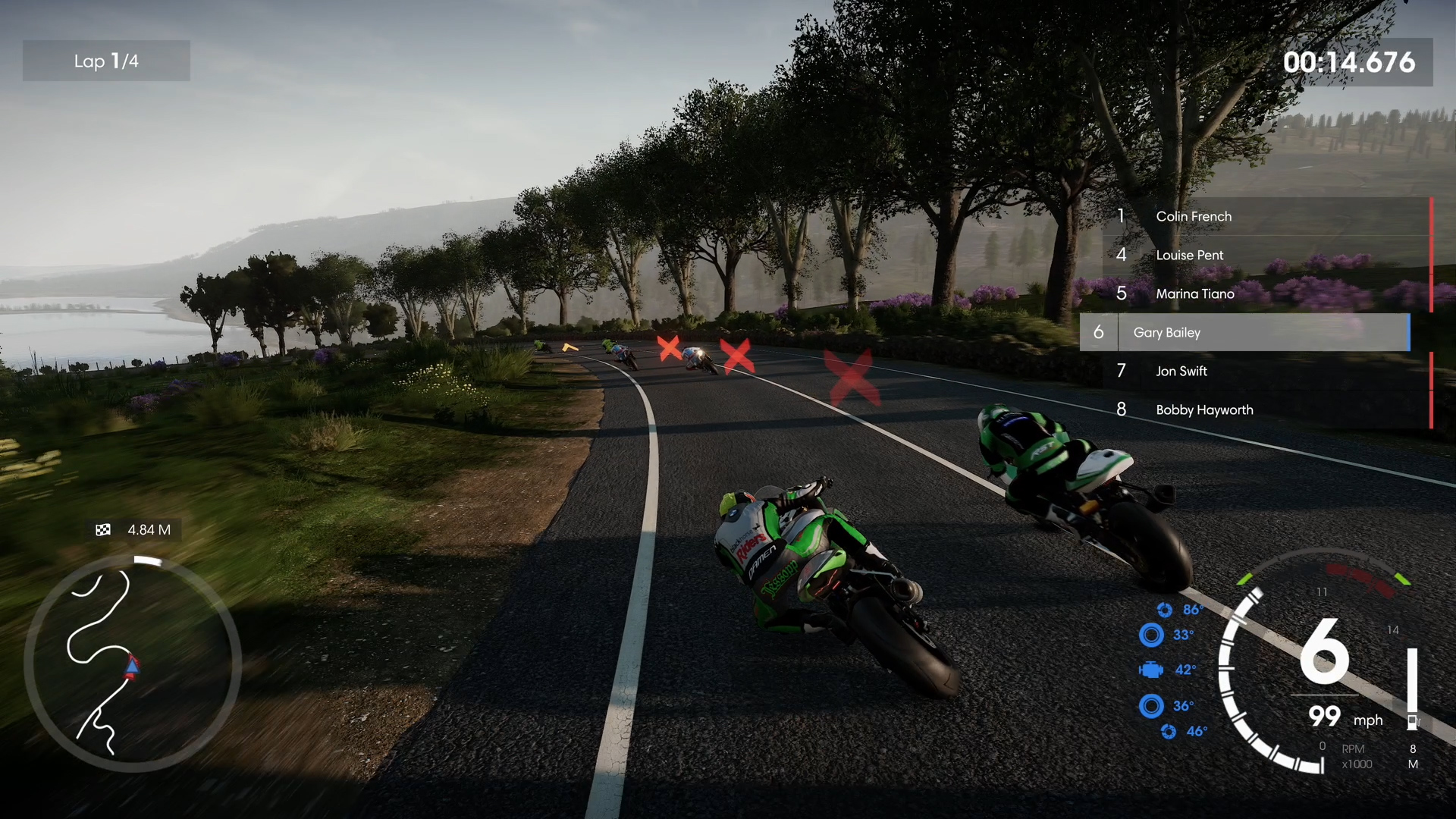 A screenshot from TT Isle of Man: Ride on the Edge 2 tutorial