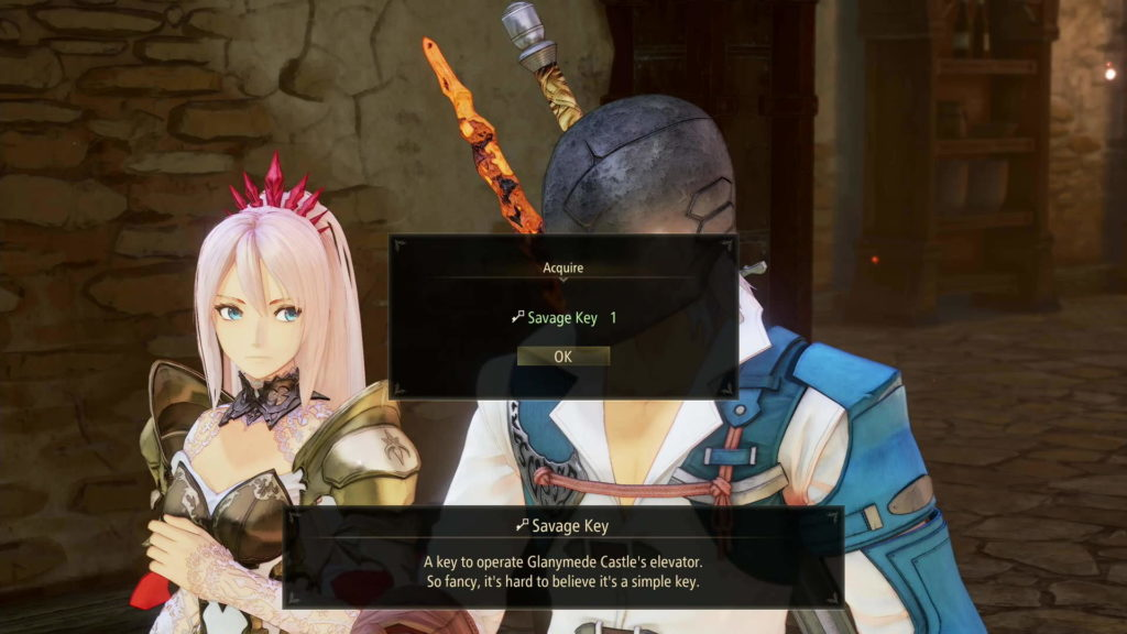 Tales of Arise elevator key Glanymede Castle