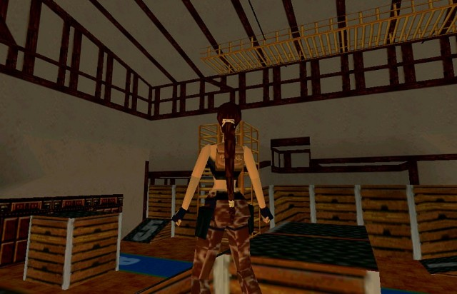The gym in Lara Croft's Mansion, Tomb Raider III