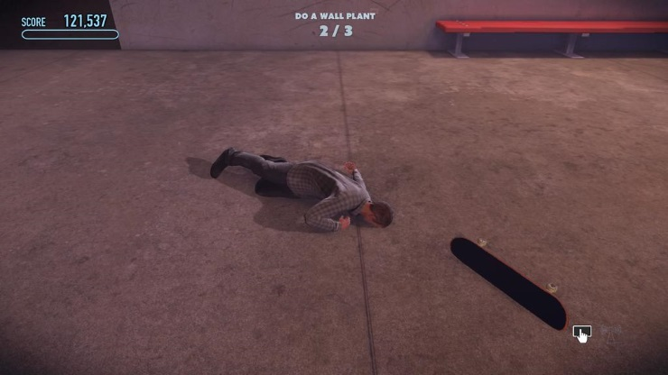 Tony Hawk faceplant