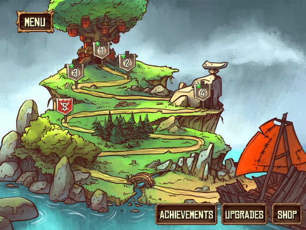 Tree Wars menus