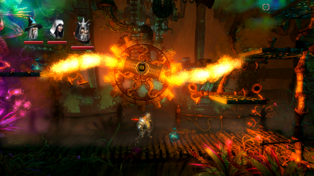 Trine 2 - Pontius and the Spinning Fire Wheel