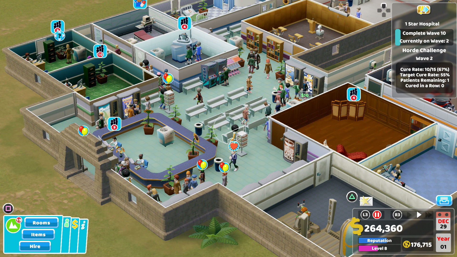 A screenshot of Two Point Hospital