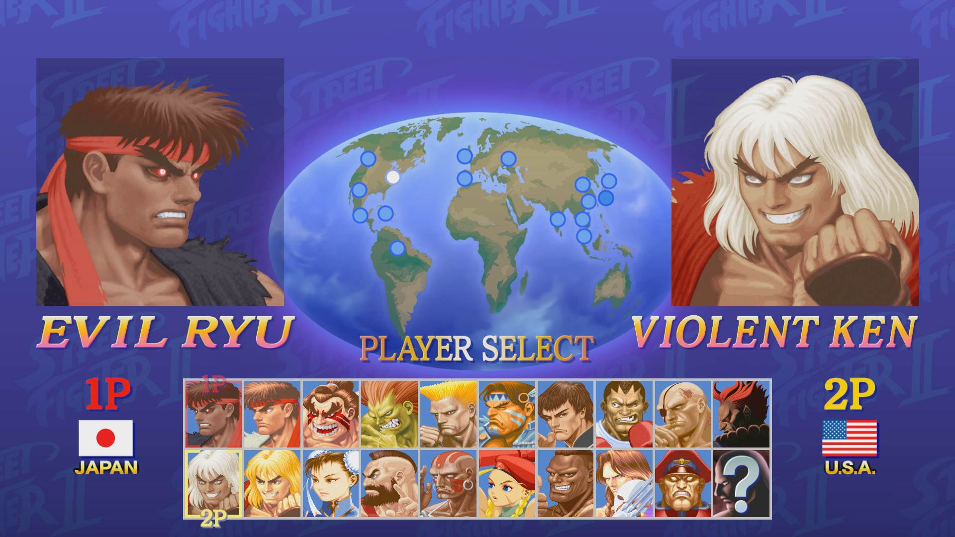 Ultra Street Fighter 2 Switch - player select